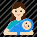 activity, baby, babysitter, lifestyle, motherhood, nursery, woman icon