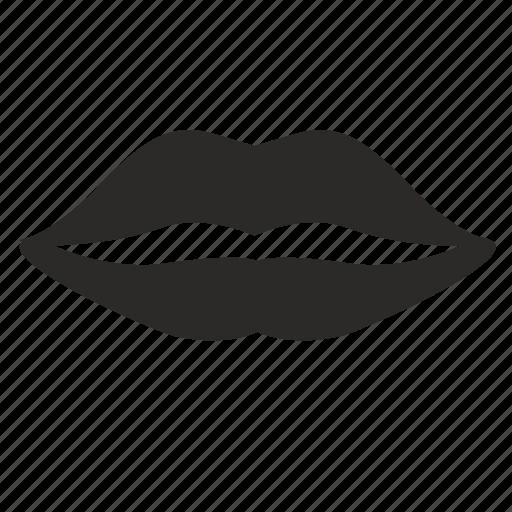botox, female, lips, woman icon