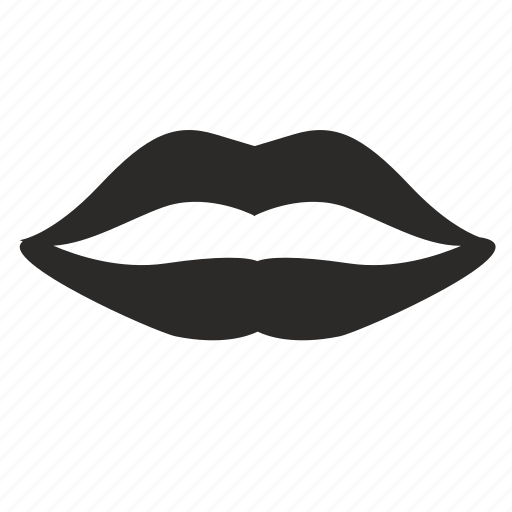 female, lips, woman icon