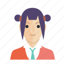 avatar, girl, head, smile, woman icon