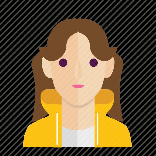 avatar, girl, head, smile, woman icon