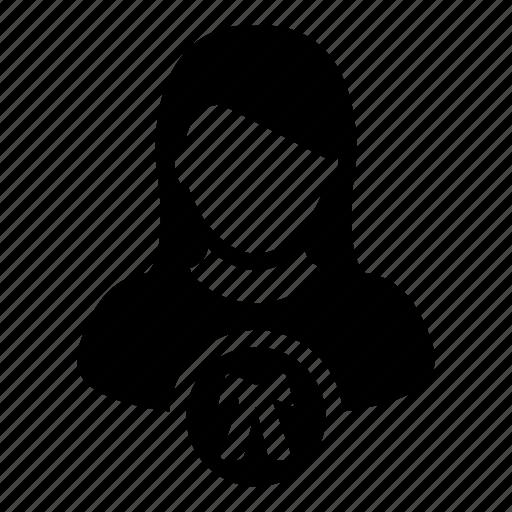 advocate, avatar, law, lawyer, person, profile, woman icon