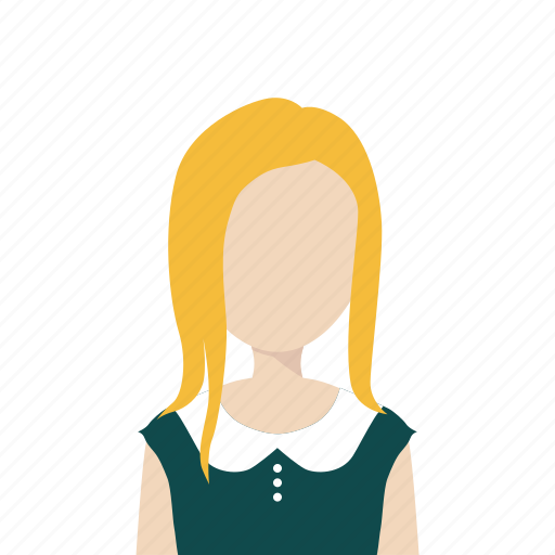 Blonde, dress, girl, woman icon - Download on Iconfinder