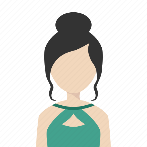 dress, elegant, fashion, girl, woman icon