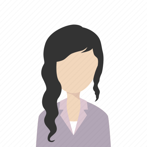 Girl, longhair, suit, woman icon - Download on Iconfinder
