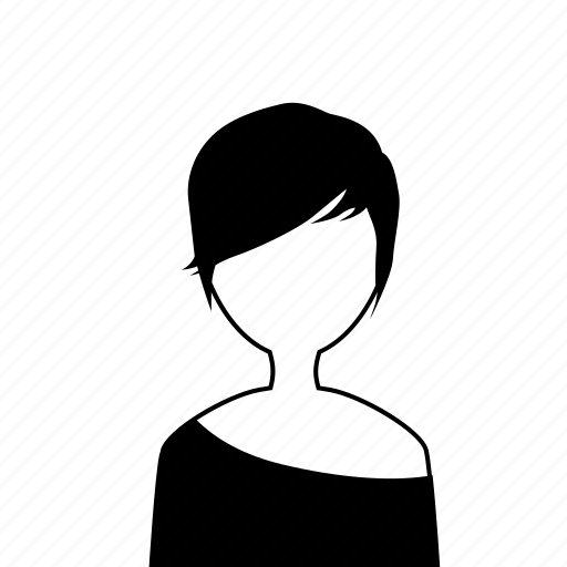 female, girl, t-shirt, user, woman icon