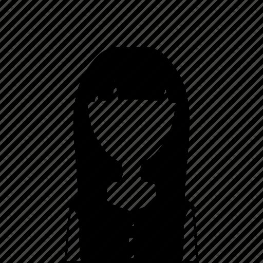 dress, female, girl, user, woman icon