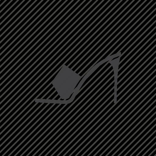 accessory, fashion, footwear, heel, high, shoe, women icon