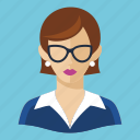 avatar, teacher, user, woman icon