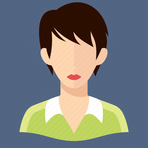 avatar, short hair, woman icon