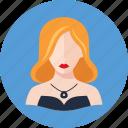avatar, elegant woman, ginger icon