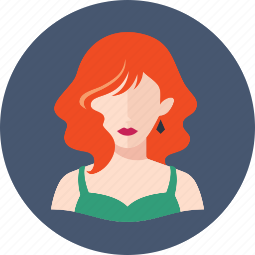 avatar, elegant woman, redhead icon