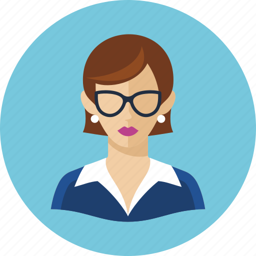avatar, teacher, woman icon