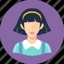 avatar, teenager, woman icon