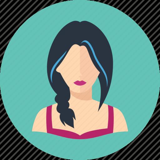 avatar, elegant woman, user icon