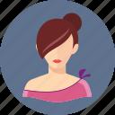 avatar, redhead, woman icon