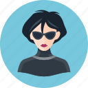 avatar, spy, woman icon