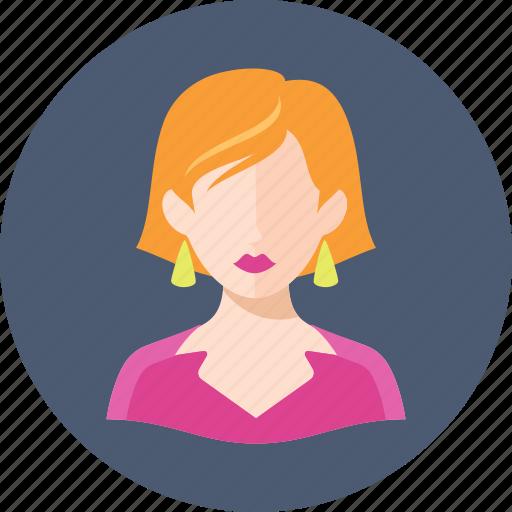 avatar, ginger hair, woman icon