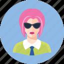 avatar, pink hair, woman icon