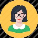 avatar, librarian, woman icon