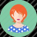 avatar, redhead, teacher, woman