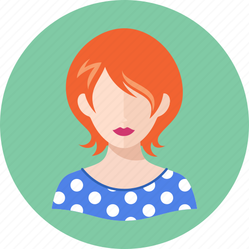 avatar, redhead, teacher, woman icon