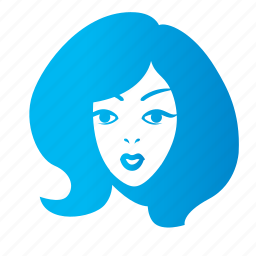 avatar, chick, face, female, front, girl, lady, woman icon