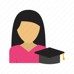 class, college, education, ipad, learning, studying, woman icon