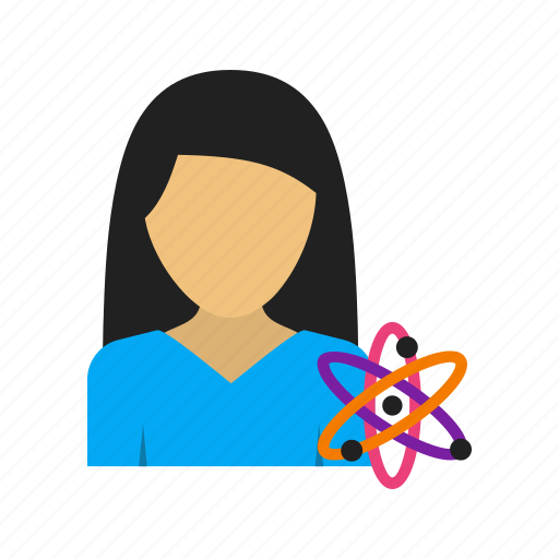 biotechnology, laboratory, medicine, science, scientific, student, woman icon