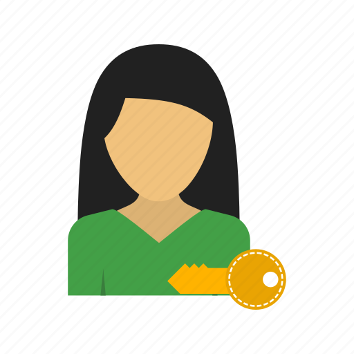 account, business, computer, office, privacy, professional, woman icon