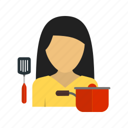 cooking, dinner, family, food, home, kitchen, woman icon
