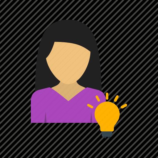 brainstorming, discover, idea, planning, teamwork, women, work icon