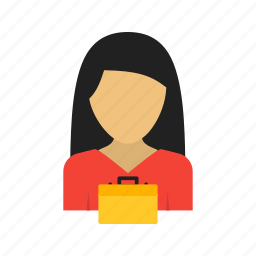 business, businesswoman, career, corporate, job, laptop, office icon