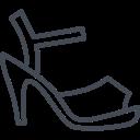 clothes, fashion, shoes, women icon