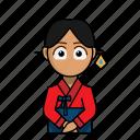avatar, culture, dress, korea, traditional, woman icon