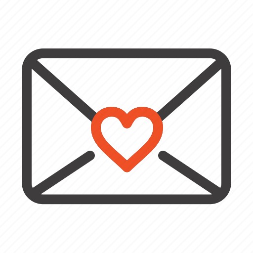 heart, love, mail icon