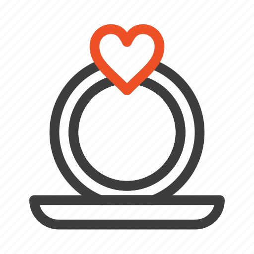 heart, proposal, ring icon