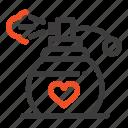 gift, love, perfume icon