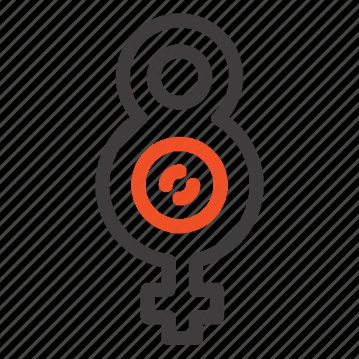 eight, female, symbol icon