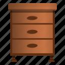 bedroom, brown, cabinet, drawer, dresser, table