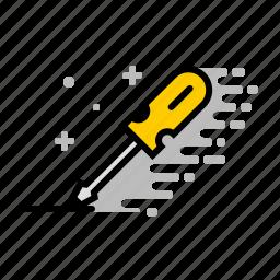 construction, fix, repair, screwdriver, tools, wood icon