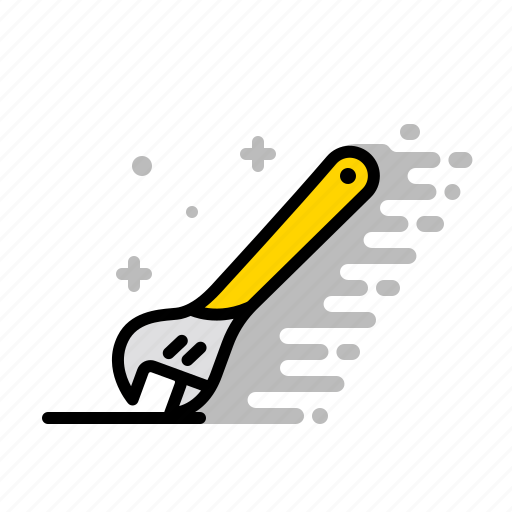 crescent wrench, fix, repair, spanner, tools, wood, wrench icon