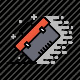 service, storage box, toolbox, tools, wood, workshop icon