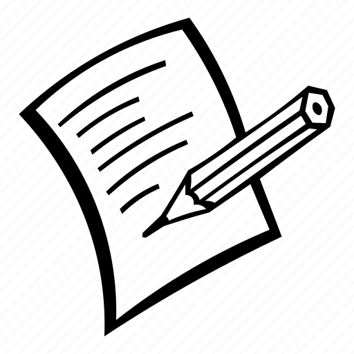 letter, message, note, paper, pencil, write icon