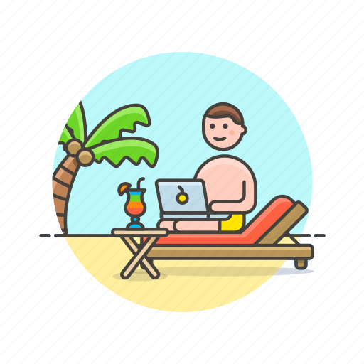 business, digital, job, laptop, nomad, office, table, work icon