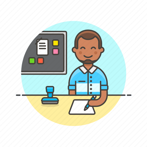 board, business, document, job, man, office, table, work icon