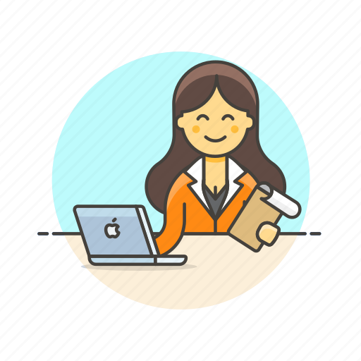 business, check, data, document, job, laptop, office, work icon