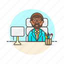 business, desk, job, man, office, supervisor, work icon