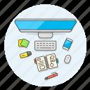 smartphone, workflow, imac, desktop, note, pen, highlight, sticky