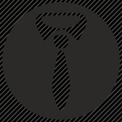 form, office, round, tie, work icon